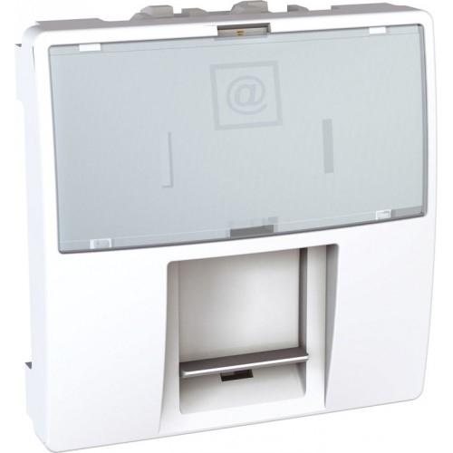 Schneider UNICA strojek 2modul zásuv.datova RJ45 kat.5e UTP POLAR