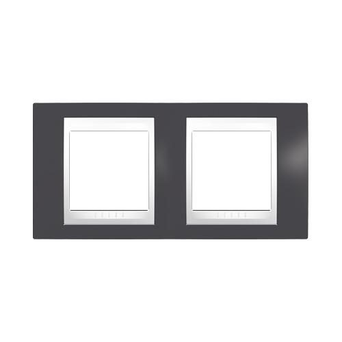 Schneider UNICAplus ram.kryci dvojnasobny  SLATE/POLAR