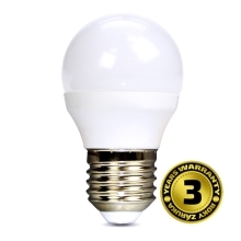 SOLIGHT LED žárovka. miniglobe. 6W. E27. 3000K. 450lm