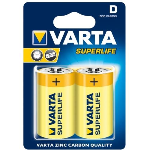 VARTA baterie zinko-uhlik. SUPERLIFE 2020 D/R20 ; BL2