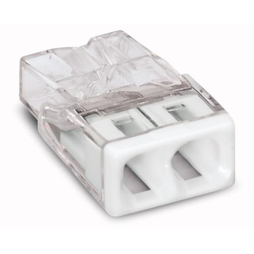 WAGO svorka.krabicova 2x0.5-2.5 mm2 transp/bila kod:2273-202 ; bal.=100ks